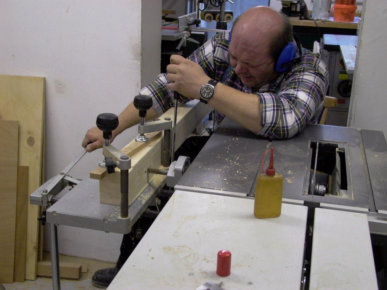 Anfertigen eines Langlochs mit der Langlochbohrvorrichtung